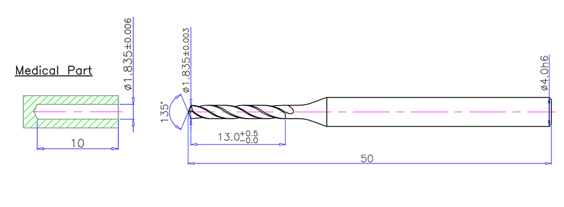 Carbide Drill 4-land